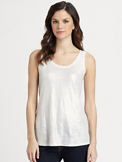 Eileen Fisher - Shimmering-Linen Tank Top