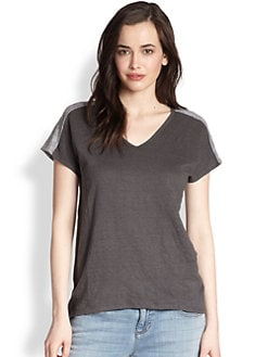 Eileen Fisher - Colorblock Linen Top