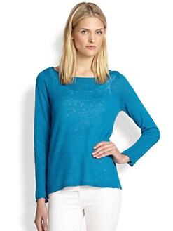 Eileen Fisher - Linen Boatneck Top