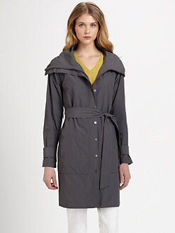 Eileen Fisher - Funnel-Neck Coat