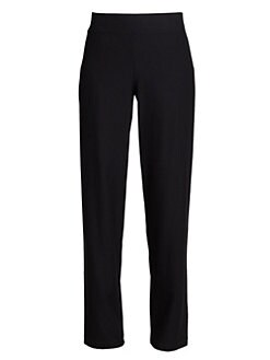 Eileen Fisher - Stretch Straight-Leg Pants