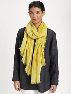 Eileen Fisher - Border-Print Scarf