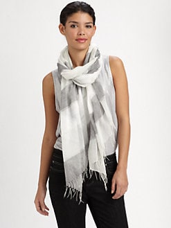 Eileen Fisher - Cotton Striped Scarf