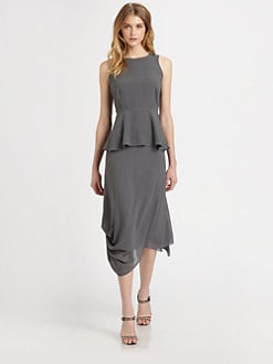 Eileen Fisher - Silk Peplum Top