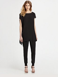 Eileen Fisher - Silk Embellished-Trim Tunic