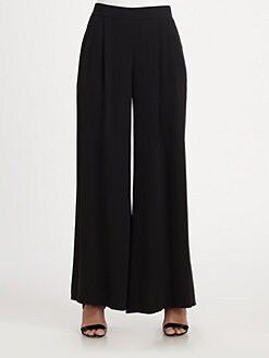 Eileen Fisher - Silk Crepe Wide-Leg Pants