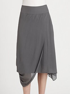 Eileen Fisher - Silk Draped Skirt