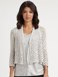 Eileen Fisher - Sequin/Mesh Cardigan