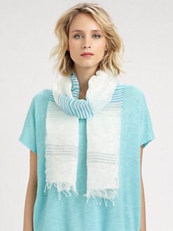 Eileen Fisher - Metallic-Thread Narrow Scarf