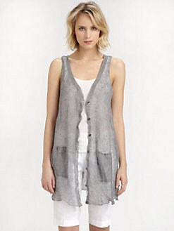 Eileen Fisher - Ribbed Long Vest