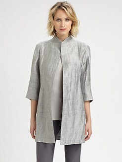 Eileen Fisher - High-Collar Jacket