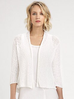 Eileen Fisher - Cropped Cotton Sweater