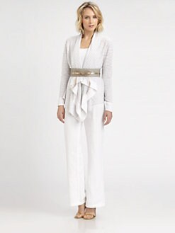 Eileen Fisher - Linen/Cotton Cascading Cardigan