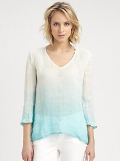 Eileen Fisher - Ombre Linen Top