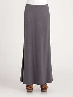 Eileen Fisher - Slub Hemp & Cotton Maxi Skirt