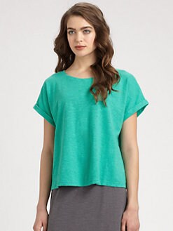 Eileen Fisher - Dolman-Sleeved Slub Hemp & Cotton Top