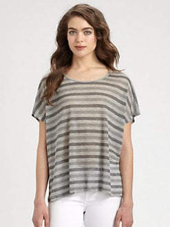 Eileen Fisher - Dolman-Sleeved Striped Tee