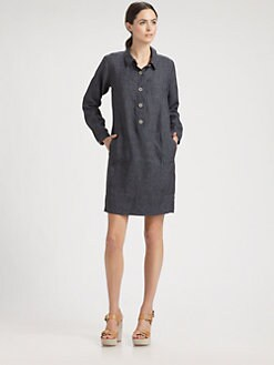 Eileen Fisher - Washed Linen Shirtdress