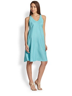 Eileen Fisher - Linen Bias-Cut Dress