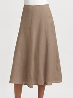Eileen Fisher - Linen A-Linen Skirt
