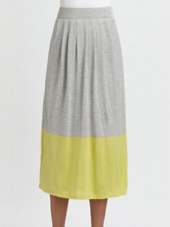 Eileen Fisher - Colorblock Long Skirt