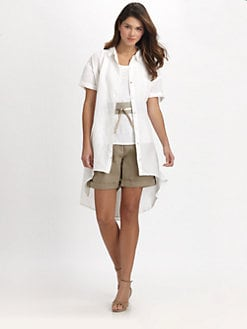 Eileen Fisher - Organic Linen Layering Shirtdress