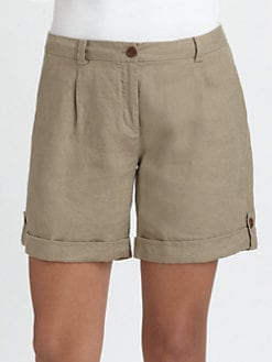 Eileen Fisher - Organic Linen Cuffed City Shorts