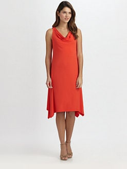 Eileen Fisher - Sleeveless Cowlneck Dress