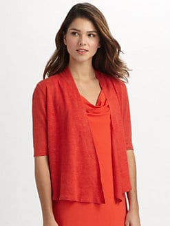 Eileen Fisher - Linen Elbow-Sleeve Cardigan