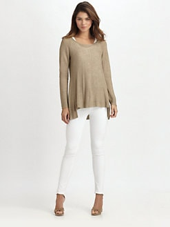 Eileen Fisher - Scoopneck Hi-Lo Top