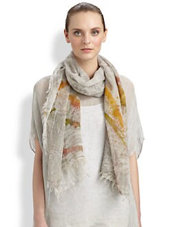 Eileen Fisher - Cotton Abstract-Print Scarf
