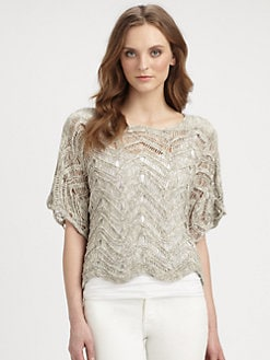 Eileen Fisher - Lightweight Dolman Knit Top
