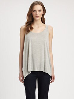 Eileen Fisher - Silk-Cotton Scoopneck Tank Top