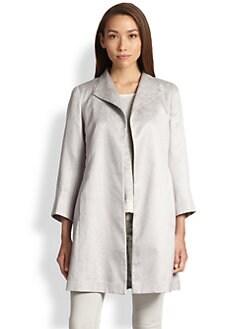 Eileen Fisher - Shimmer Jacquard Coat