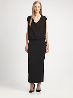 Eileen Fisher - Cotton Mesh-Back Top