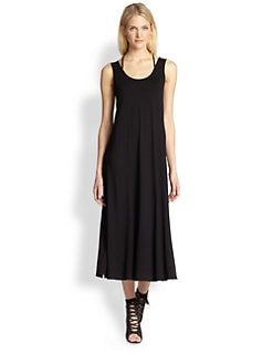 Eileen Fisher - Jersey Scoopneck Long Dress