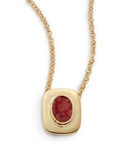 Kara Ross - Oval Druzy Pendant Necklace