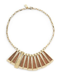 Kara Ross - Karung Snakeskin Deco Stick Necklace