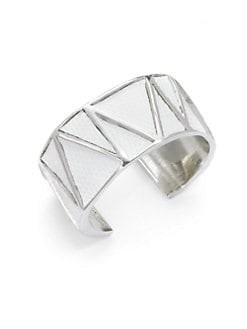 Kara Ross - White Lizard Vertical Inset Thin Cuff
