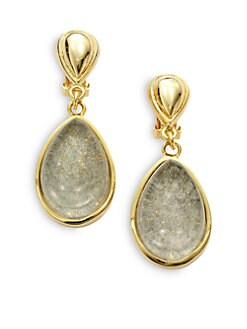 Kara Ross - Water Snakeskin Resin Cast Teardrop Earring