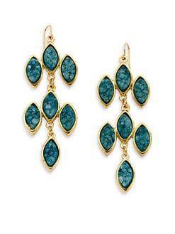 Kara Ross - Marquis Druzy Chandelier Earrings