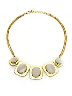 Kara Ross - Graduated Oval Druzy Necklace