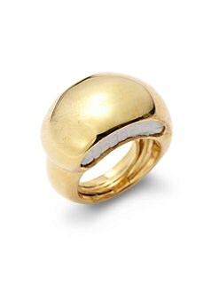 Kara Ross - Lizard Skin Inset Crescent Dome Ring