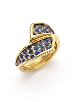Kara Ross - Metallic Lizard Skin Wrap Ring