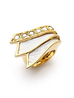 Kara Ross - Jasper & Lizard Skin Tail Ring