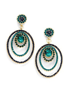 Sparkling Sage - Oval Bull's Eye Earrings