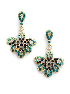 Sparkling Sage - Flower Drop Earrings