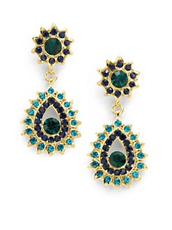 Sparkling Sage - Starburst & Peacock Earrings
