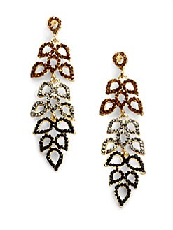 Sparkling Sage - Cascading Petal Earrings/Brown
