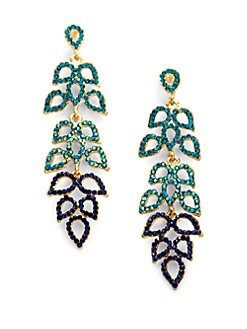 Sparkling Sage - Cascading Petal Earrings/Blue